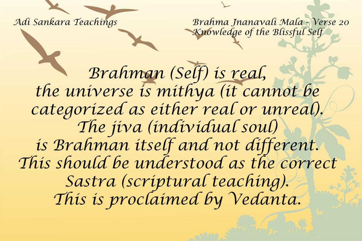 Brahma Jnanavali Quote 20