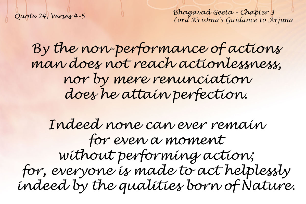 Bhagavad Geeta Chapter 3 Verses 4-5