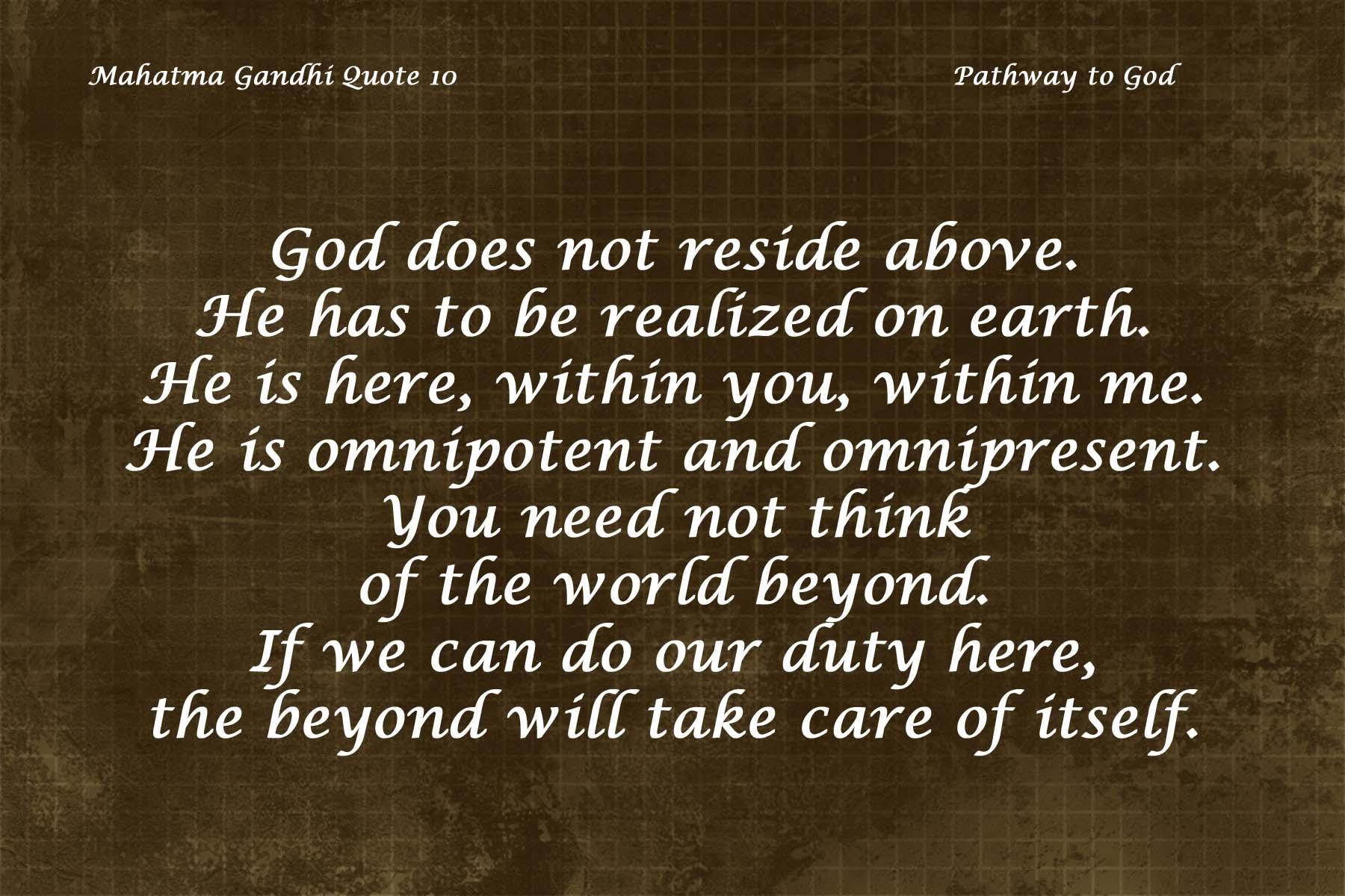 Mahatma Gandhi Quote 10