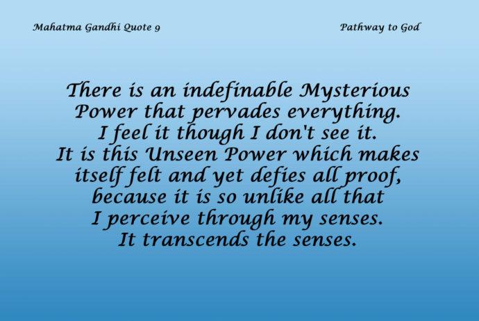 Mahatma Gandhi Quote 9