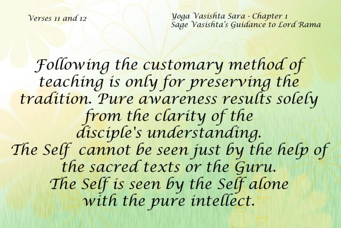 Yoga Vasishta Sara Quote 11-12