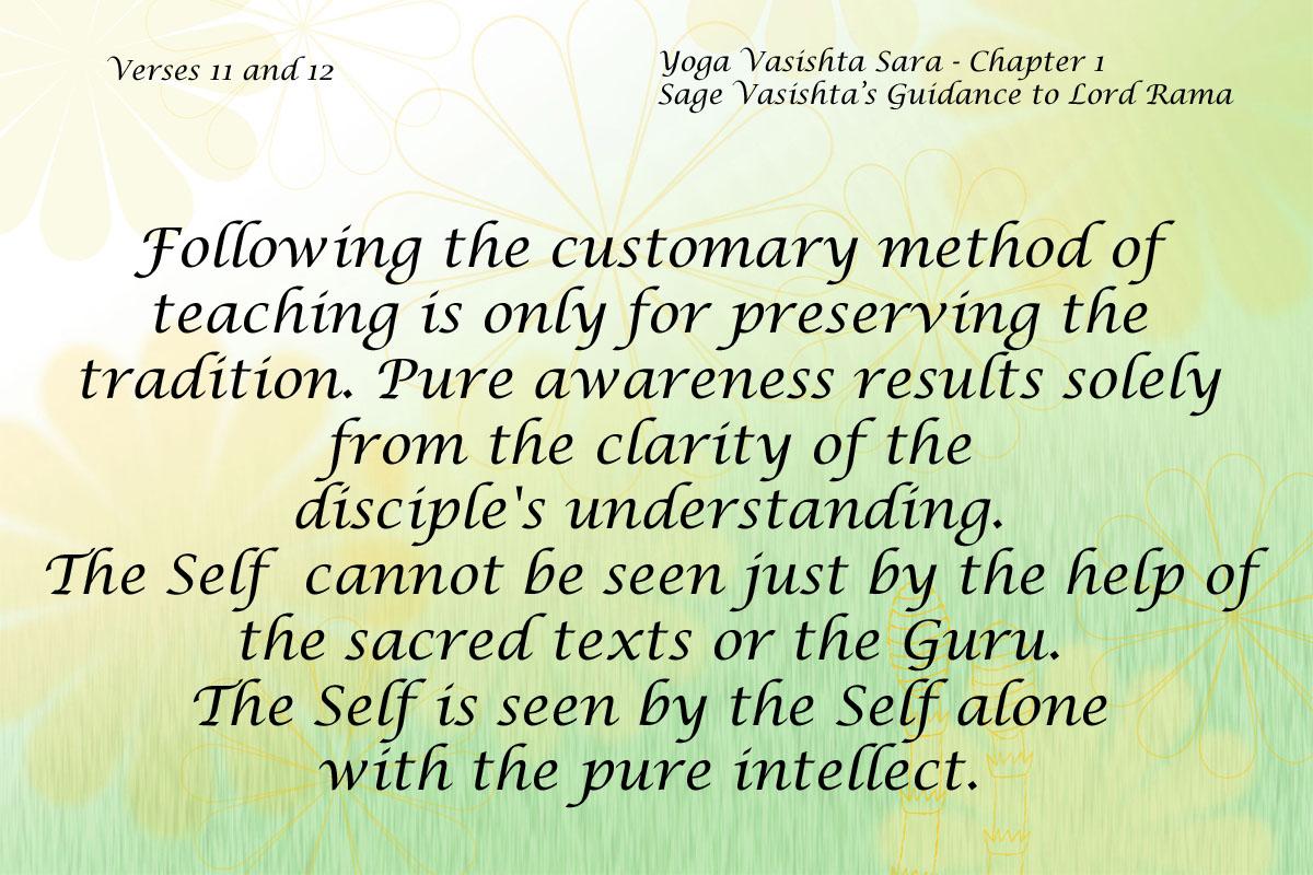 Yoga Vasishta Sara Quote 11-12