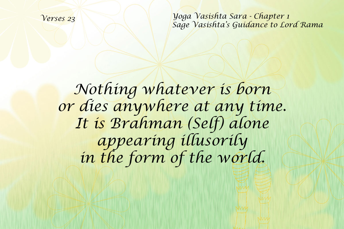Yoga Vasishta Quote 23