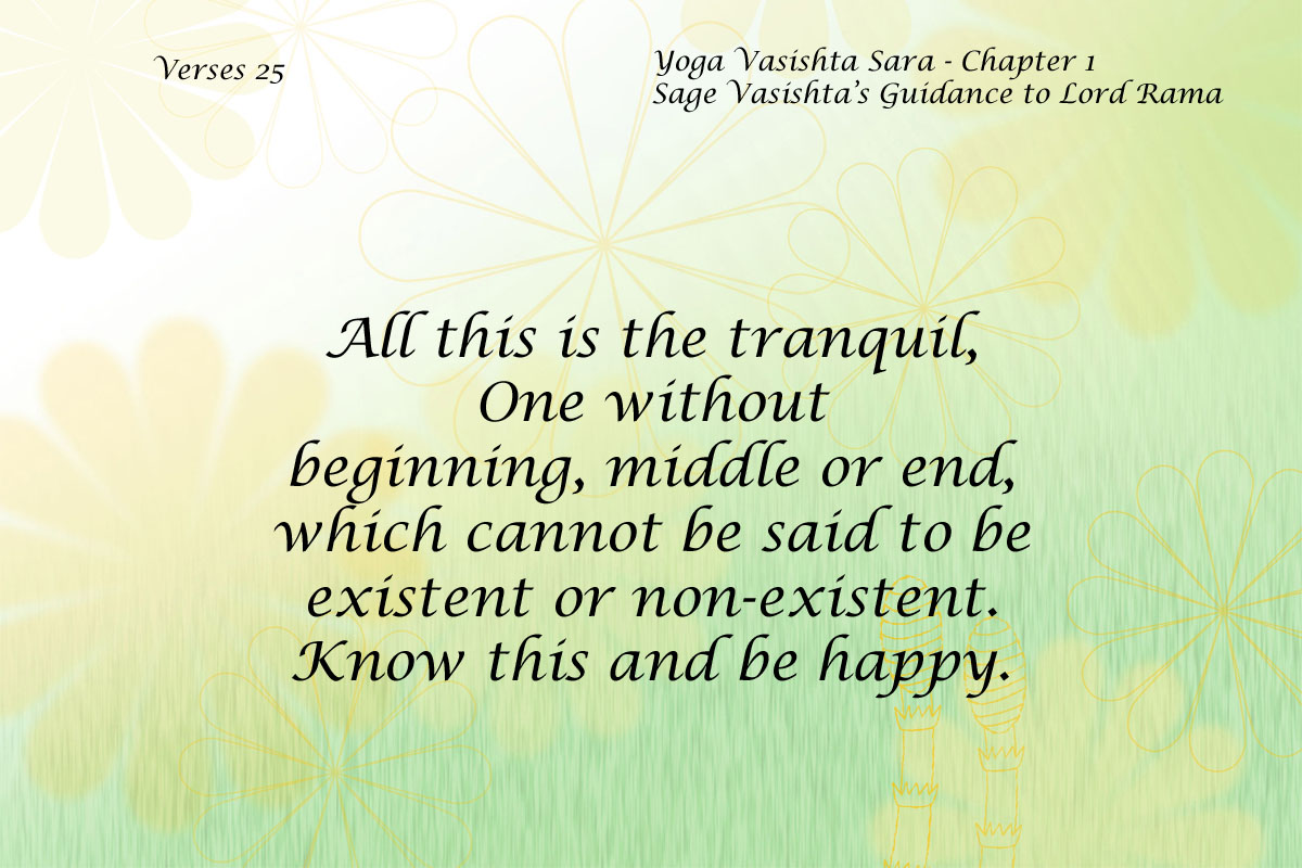 Yoga Vasishta Quote 25
